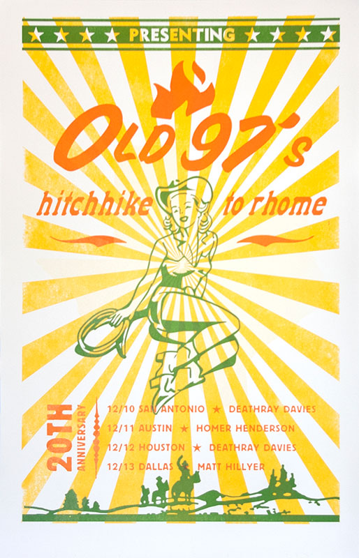 Old 97's Band Poster